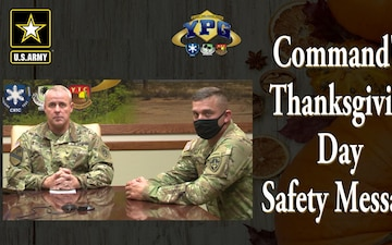 Commander's Thanksgiving Safety Message