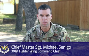 301 FW Command Chief holiday message
