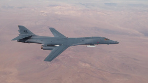 Global Power Bomber CTF conducts B-1B external captive carry demonstration