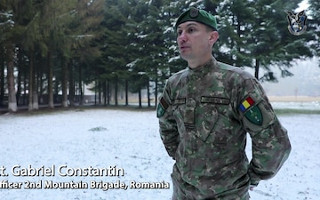 'Wings of Destiny' train with Romanian Land forces near Brasov
