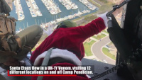 Happy Holidays: Santa, Marines fly over Pendleton, North County neighborhoods