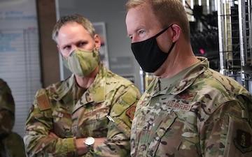 Maj. Gen. Gregory F. Jones visits the 147th Combat Communications Squadron