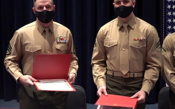 Guard Company Marines awarded for heroic actions (Package)