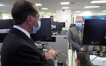 HHS Secretary visits Operation Warp Speed Vaccine Operations Center