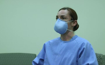 Lieutenant Emily Micciolo talks about receiving COVID-19 vaccine