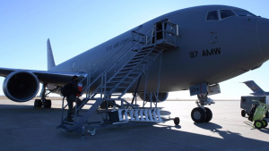 First in AETC: KC-46s refuel F-16 fighters