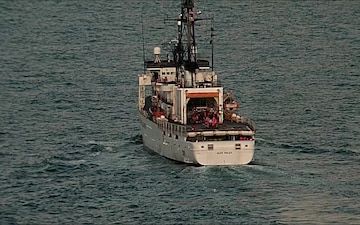 Coast Guard Cutter Alex Haley underway