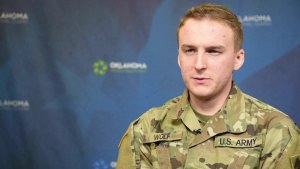 Interview: Spc. Josiah Wolf - OKNG COVID Vaccine Courier
