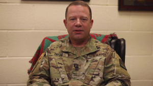 Happy Holidays from Maj. Gen. John Phillips and Sgt. Maj. William Taylor