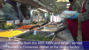 WPAFB Leadership Serves Holiday Dinner
