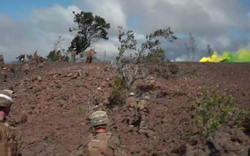 15th MEU Marines with BLT 1/4 lands at Pohakuloa Training Area to conduct live-fire training