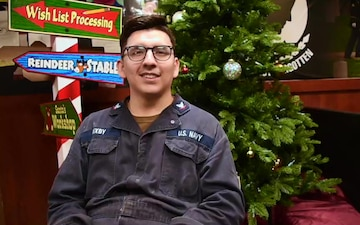HOLIDAY GREETINGS: USS Philippine Sea Sailor Sends Holiday Greetings on Deployment