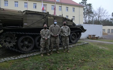 Alaska Army National Guard Soldiers at the forwarding operating base in Zagan, Poland wish their friends Happy Holidays.