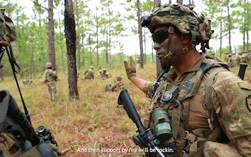 THIS IS MY SQUAD - Sgt. Lester leads his squad through JRTC LFX