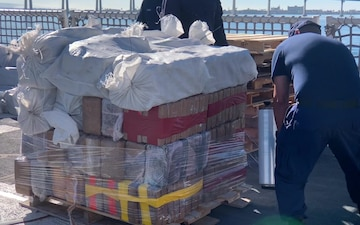 Coast Guard Cutter Active offloads 9,000 lbs. of cocaine; worth an estimated $159M