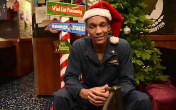 HOLIDAY GREETINGS:USS Philippine Sea Sailor Sends Christmas Greetings on Deployment