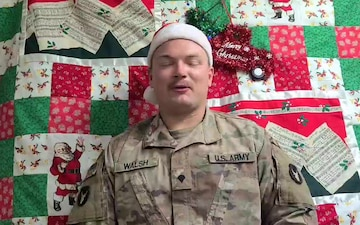 Soldiers with Task Force Bayonet send holiday wishes to family and friends, Horn of Africa, Dec. 15, 2020.