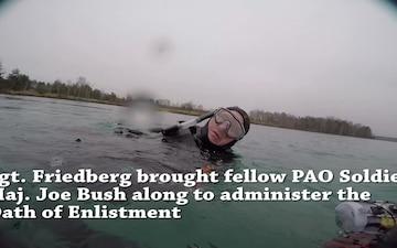 Reserve Soldier reups underwater