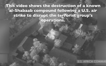 U.S. Africa Command releases video from Jan. 1 airstrike on al-Shabaab compound
