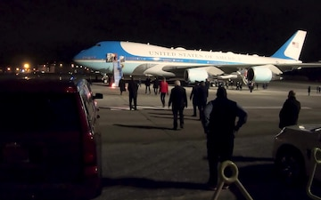 POTUS makes stop at Dobbins Air Reserve Base