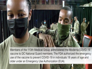 DC National Guard members receive Moderna COVID-19 vaccine