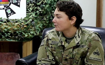 Operation People First:Sgt. Sofia Martinez speaks with 2ABCT CSM