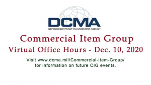 DCMA Commercial Item Group - Virtual Office Hours (Dec. 10, 2020)