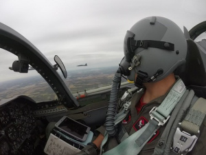 Whiteman AFB 13th, 110th Bomb Squadrons perform T-38 Talon flyover for NASCAR Hollywood Casino 400