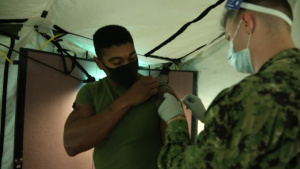 Marines and Sailors with 3d Marine Division receive the COVID-19 vaccination