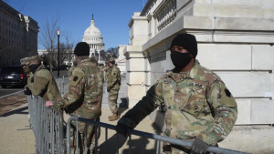 [B-Roll] Pennsylvania National Guard at Washington D.C., Interview with Soldier