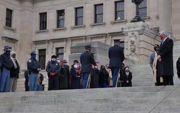 Mississippi Honor Guard Raises A New Flag
