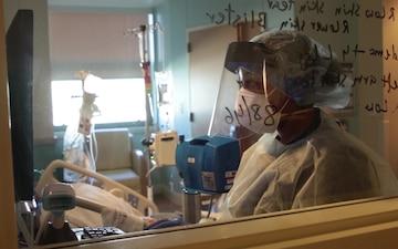 U.S. Air Force Staff Sgt. Diamond Gattis works alongside Adventist Health Lodi Memorial hospital personnel