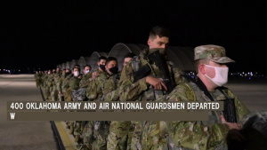 Oklahoma National Guardsmen depart for Washington D.C.