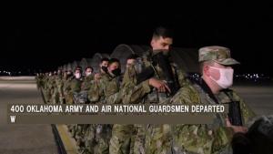 Oklahoma National Guardsmen depart for Washington D.C.