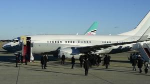 President-elect Biden, family arrive at JBA