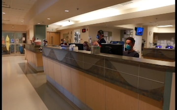 B-ROLL: Military medical personnel support Yuma Regional Medical Center