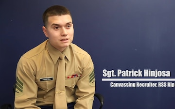 Sgt. Hinjosa, Field Artillery Cannoneer to Canvassing Recruiter