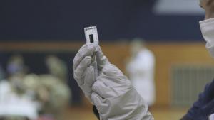 U.S. Marine Corps, Navy Personnel Receive Moderna COVID-19 vaccine (B-Roll)