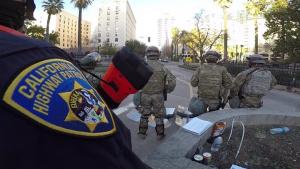 Cal Guard security forces at California Capitol