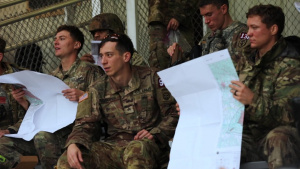 2021 Command Sgt. Maj. Jack L. Clark, Jr. U.S. Army Best Medic Competition land navigation course