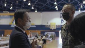 U.S. Marine Corps Col. Lance Lewis, Mayor Yoshihiko Fukuda observe Moderna COVID-19 vaccine distribution (B-Roll)