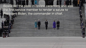 D.C. Air National Guardsman renders first salute to President Biden