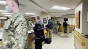 U.S. Air Force and U.S. Navy medical personnel arrive in Abilene, Texas in support of COVID-19 response