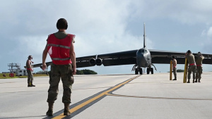 Barksdale B-52s arrive to Guam B-ROLL