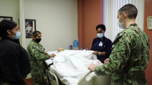 B-ROLL: Navy medical personnel receive hands-on training at Hendrick Medical Center for COVID-19 support