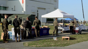 Camp Foster USO provides support to Marines waiting to receive the COVID-19 vaccine