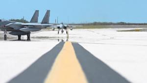 Koku-Jieitai F-15J Eagles Arrive for Exercise Cope North 21