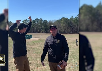 USAMU Soldiers offer up a #TrickShot for Super Bowl