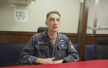 Sailors Answers Questions for the United States Naval Community College