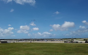 Combined forces conduct flyover for Cope North 2021